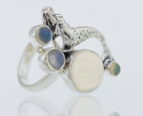 Mermaid Ring with Ethiopian Opal