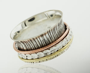 Etched Spinner Ring