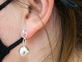 Silver Ball Dangle Earrings