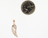 Cubic Zirconia Feather Shaped Pendant