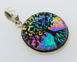 Dichroic Glass Tree Of Life Pendant