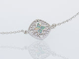 Beautiful Cubic Zirconia And Opal Bracelet
