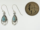 Teardrop Shape Larimar Earrings