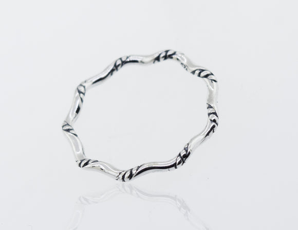 Sterling Silver Wavy Rope Band