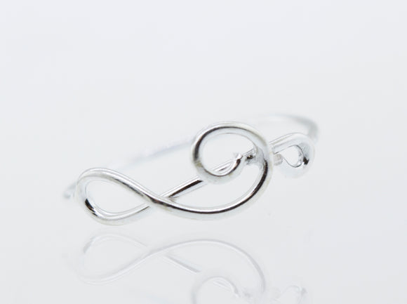 Horizontal Treble Clef Ring