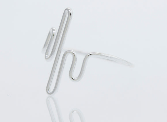 Silver Squiggle Ring