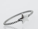 Star Ring With A Rope Band