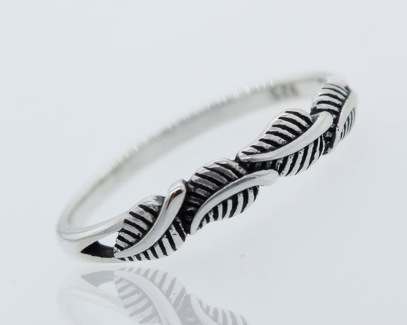 Four Leaves Silver Ring