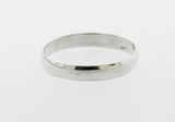 3mm Half Round Plain Silver Band