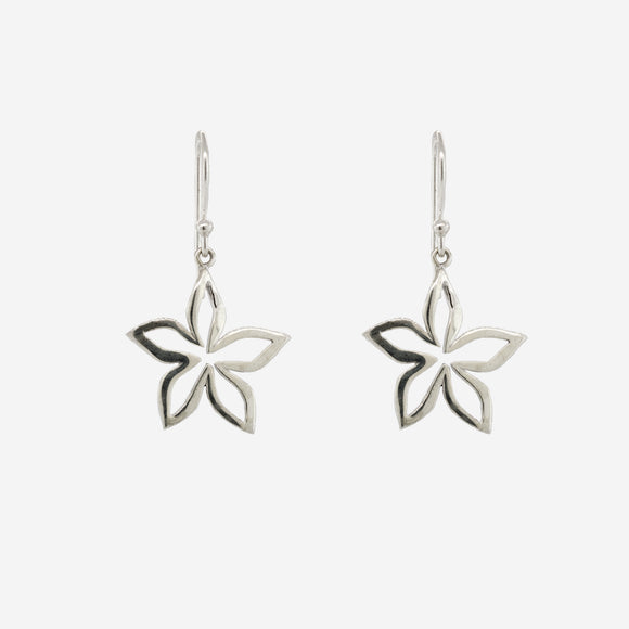 Simple Open Flower Dangle Earrings