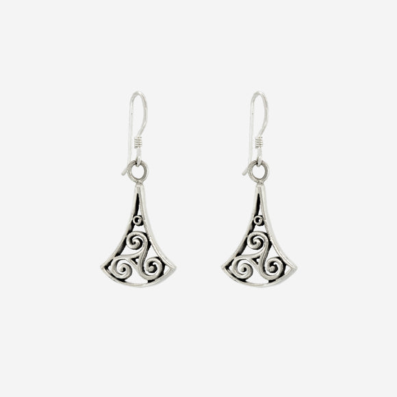 Swirl Open Trinity Drop Earring