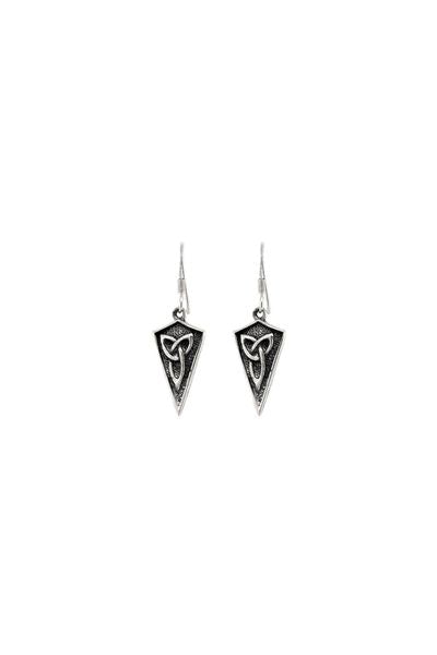 Celtic Trinity Shield Drop Earrings