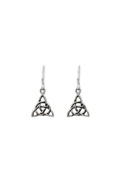 Open Celtic Triangle Drop Earrings