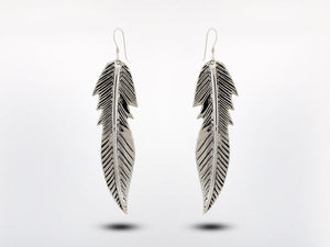 Western Inspired Large Feather Earrings