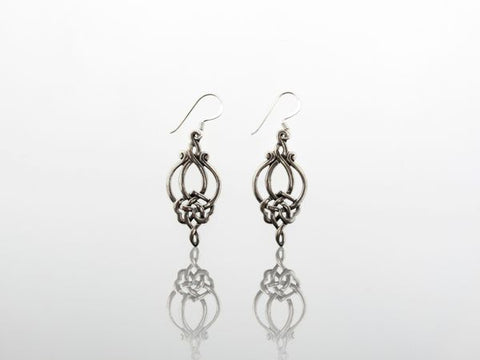 Elegant Celtic Knot Dangle Earrings