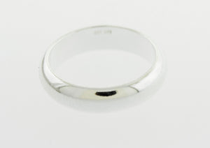 5mm Half Round Plain Silver Band