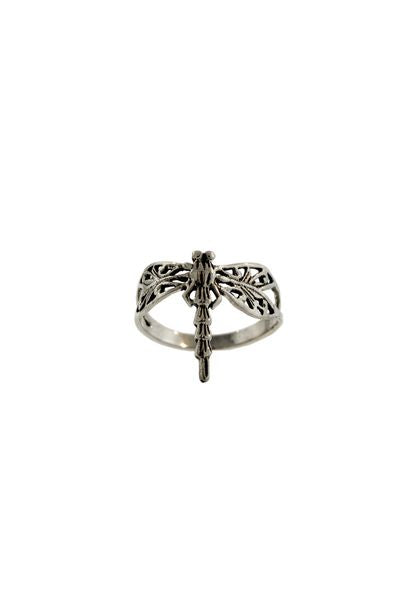 Silver Dragonfly Ring