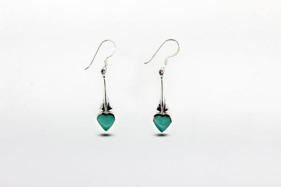 Exquisite Heart Shaped Turquoise Earrings