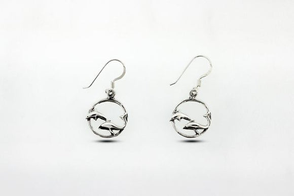Playful Dolphin Dangle Earrings