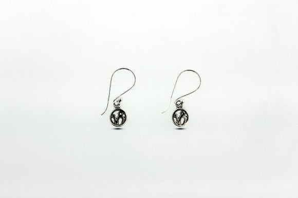 Sterling Silver Dangle Earrings with Capricorn Zodiac Symbol