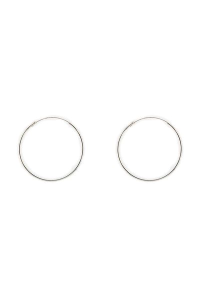 Silver Infinity Hoops 1.5 mm x 45 mm