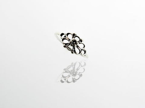 Petite Open Flower Ring