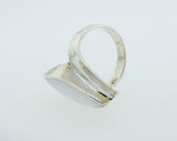 Modern Ring with Marquise Shaped Shell Inlay