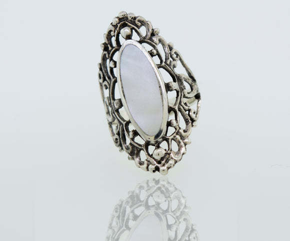 Freestyle Mother of Pearl Ring