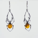 Beautiful Designer Amber Spider Earring
