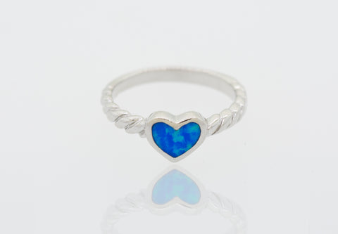 Created Opal Heart ring