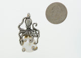 Octopus Pendant with Pearl