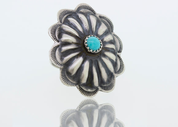 Native American Made Turquoise Flower Ring