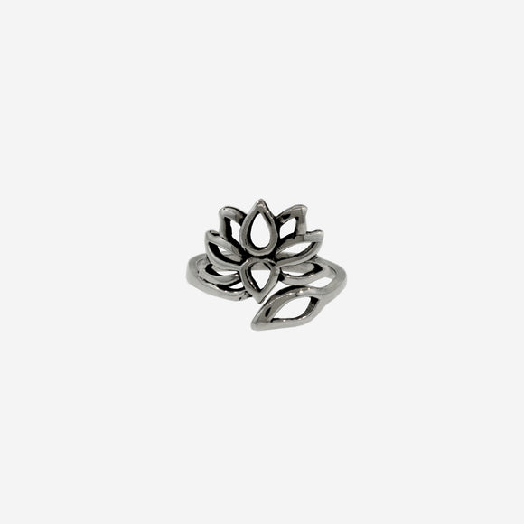 Wrap Around Adjustable Lotus Flower Ring