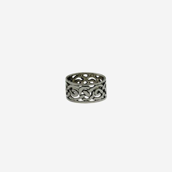 Wide Celtic Knot Silver Band