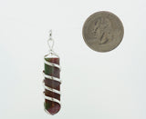 Obelisk Shaped Stone Pendant with Spiral Wire Wrapping
