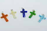 Cross Pendant with Flower Pattern