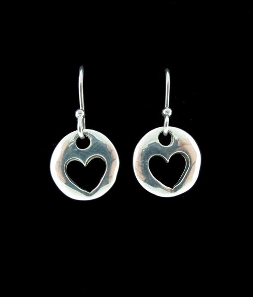 Heart Round Dangle Earrings