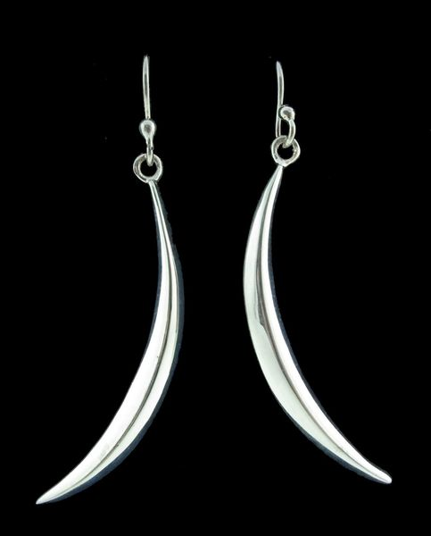 Moon Sickle Dangle Earrings