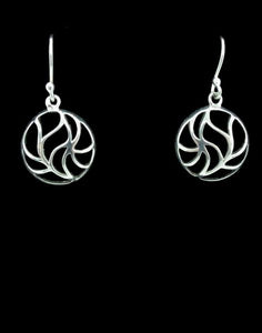 Freestyle Round Hemisphere Dangle Earrings