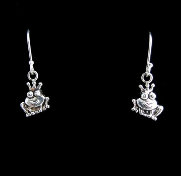 Queen Frog Dangle Earrings