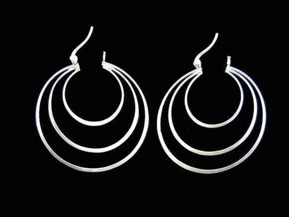 Three Rings Large Hoop Earring