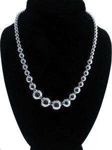 Graduated Silver Bead Necklace On A Silver Chain