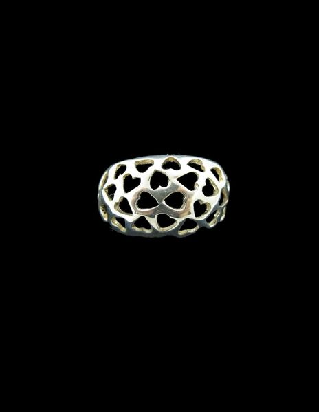 Hearts Thick Band Ring