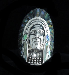 Abalone Inlayed Chief Ring
