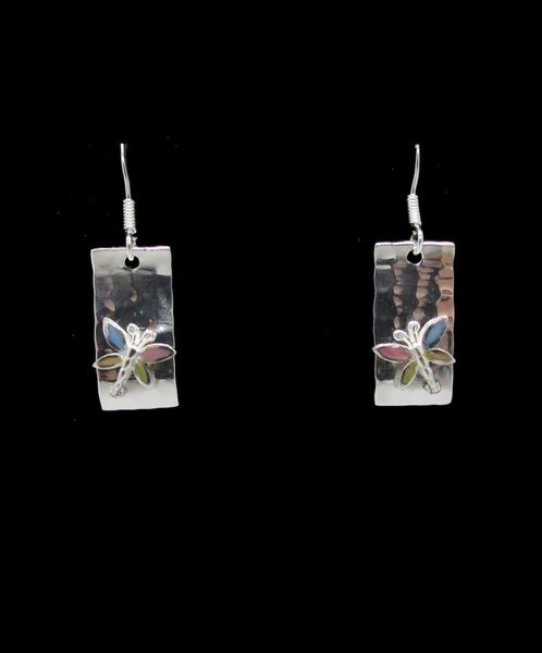 Mother of Pearl Butterfly Dangle Earrings