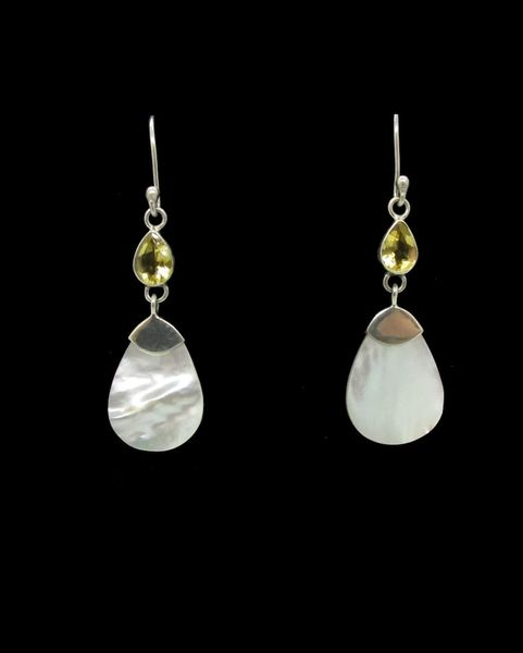 Mother of Pearl Drop Shape Dangle Earrings