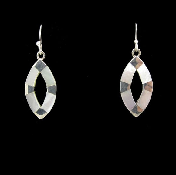 Mother of Pearl Oval Dangle Earrings