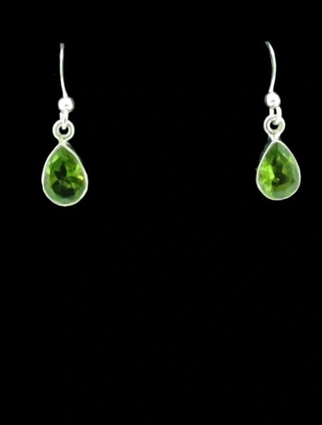 Peridot with Open Drop Shape Dangle Earrings