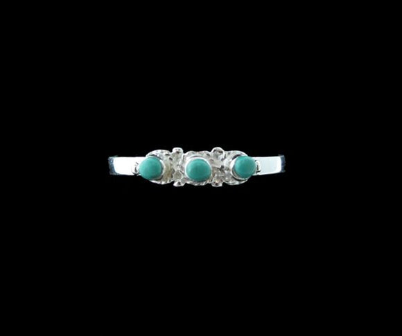 Three Circles Raw Turquoise Ring