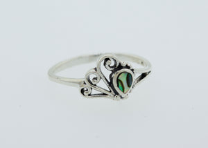 Teardrop Shape Abalone Ring